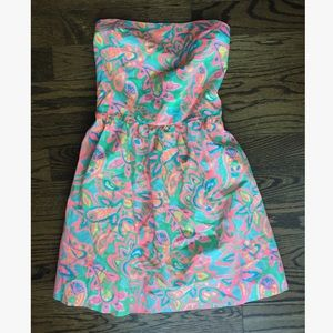 Lilly Pulitzer Chandie Strapless Print Dress